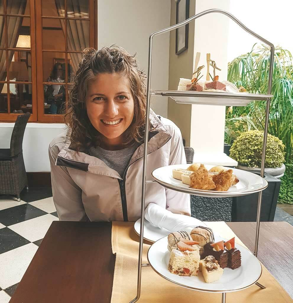 High tea at The Grand Hotel in Nuwara Eliya