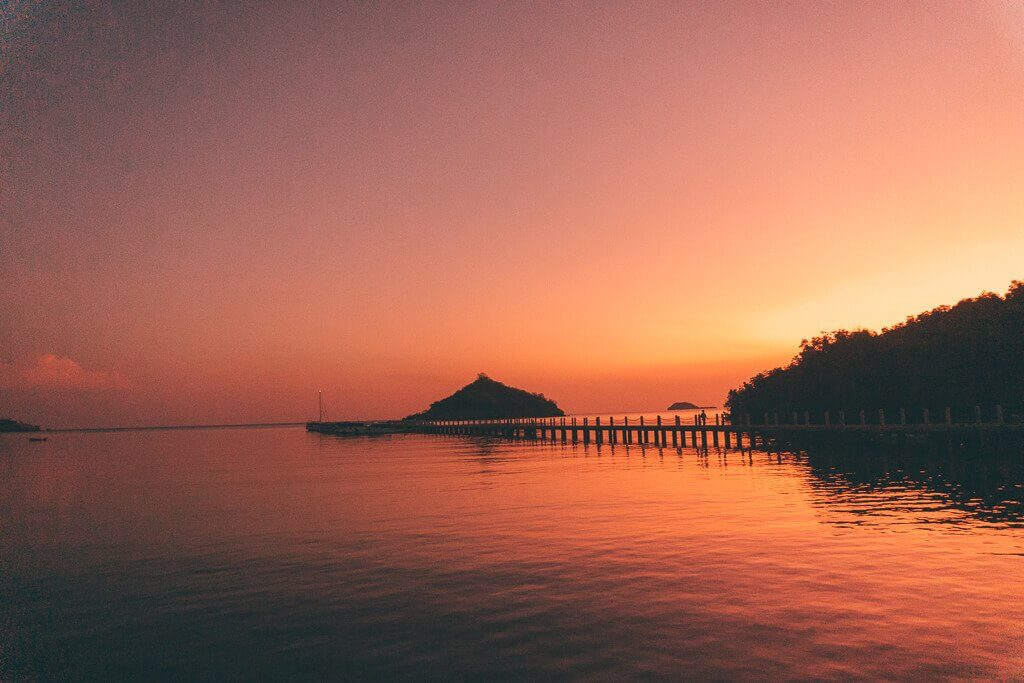 Sunrise from the Riung pier in Flores