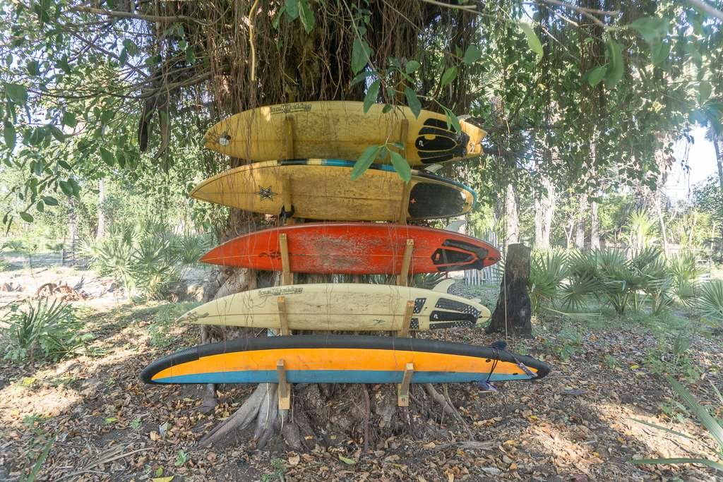 Surfboards in Sumba