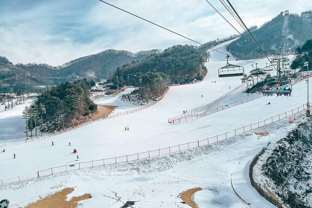 All ski resorts in Korea make use of artificial snow