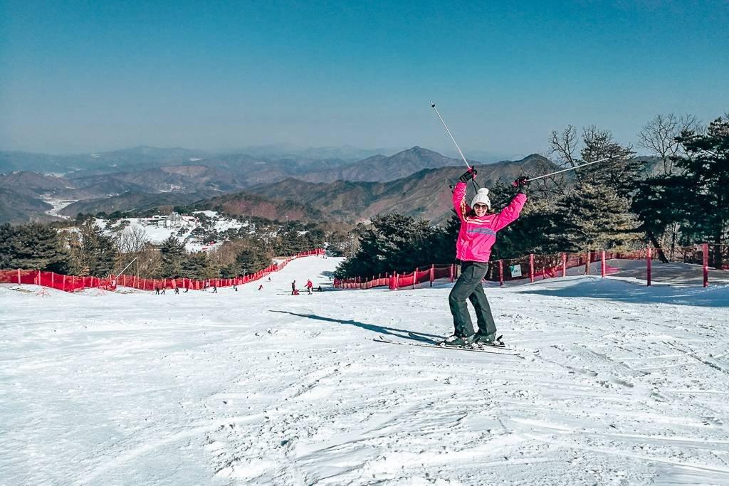 Skiing in Korea at Vivaldi Ski Park
