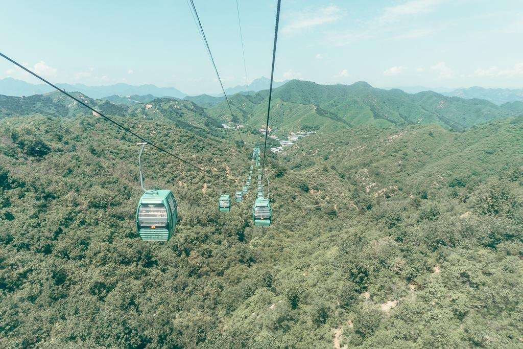 Jinshanling cable car
