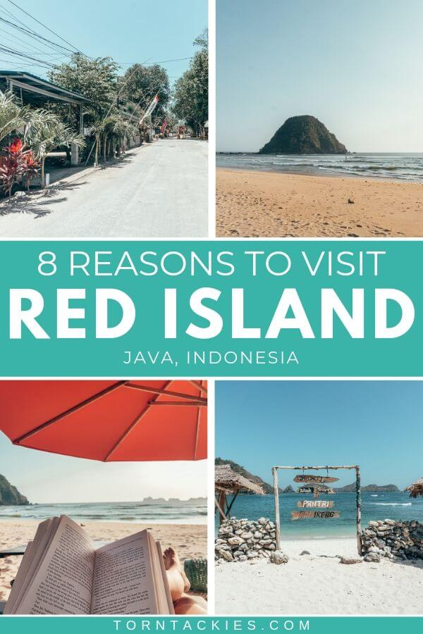 Red Island in Java, Indonesia