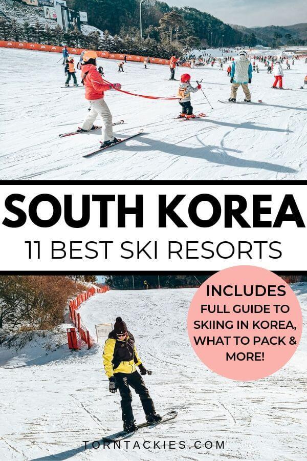 Best places to ski in Korea near Seoul