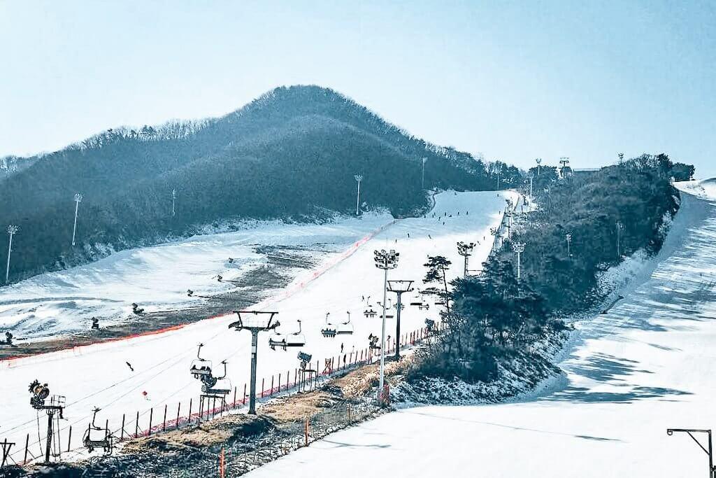 Jisan Ski Resort in Korea