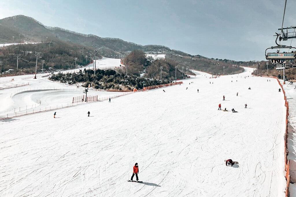 Konjiam Ski Resort, Korea.