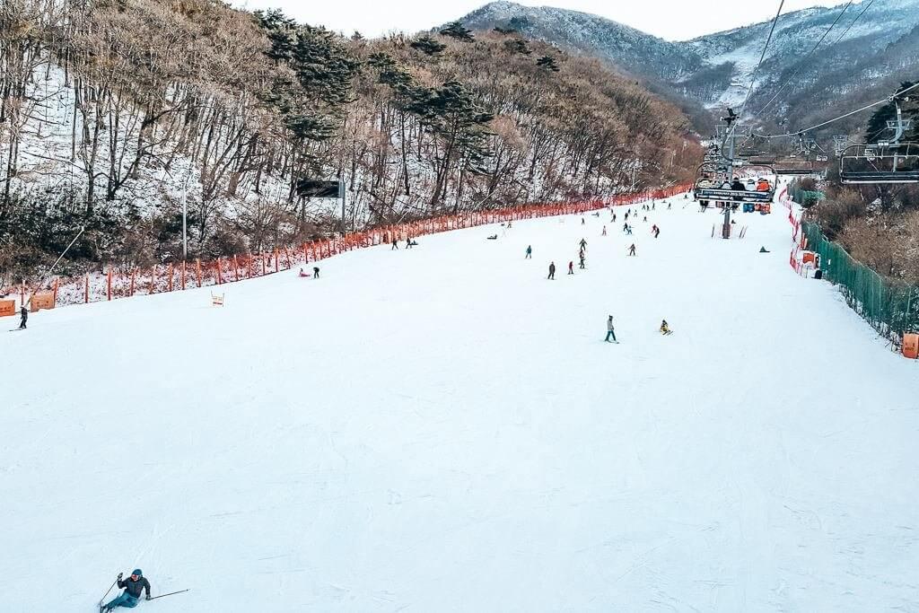 Muju Ski Resort in Korea
