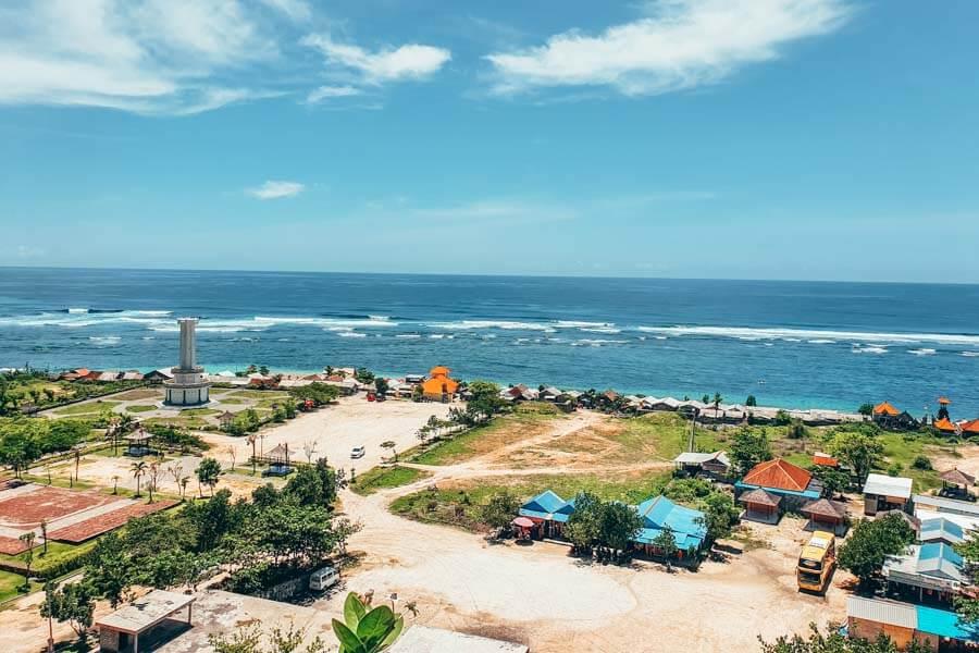 View of Pandawa Beach in Uluwatu