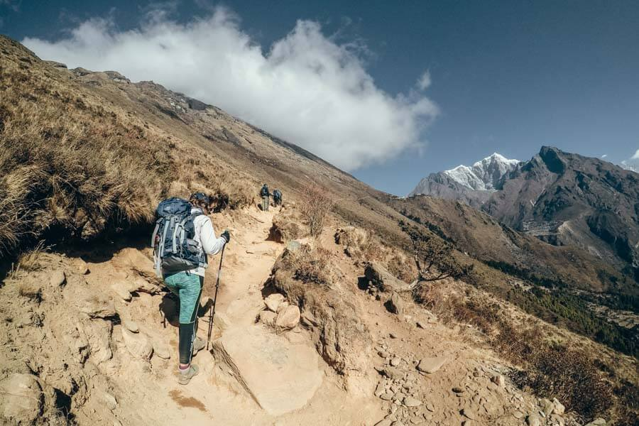 Day 5 Khumjung to Phortse Everest Base Camp route