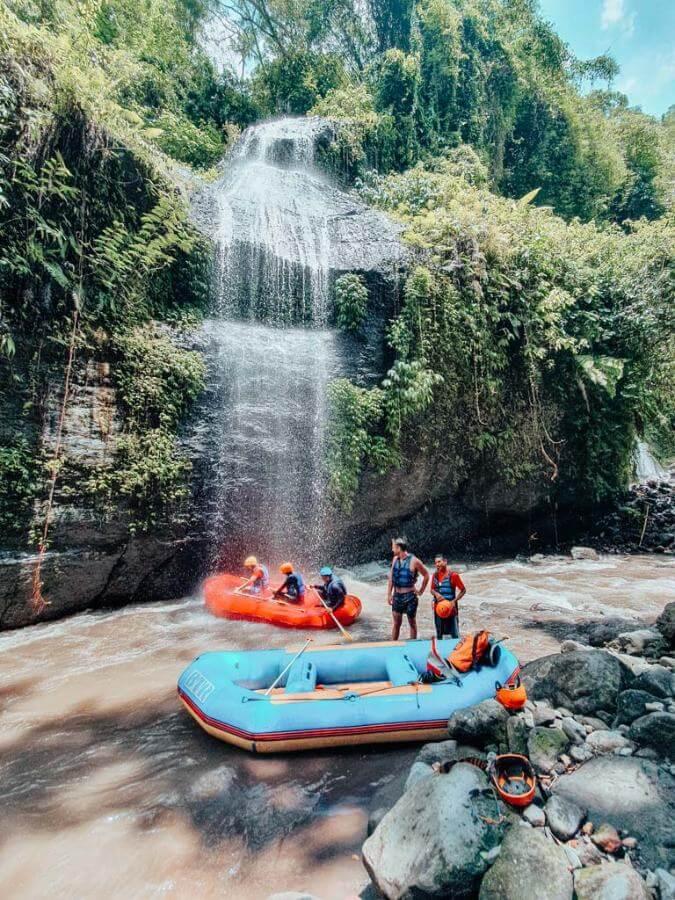 Telaga Waja or Ayung rafting in Bali