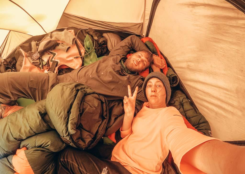 Camping at Island Peak Base Camp