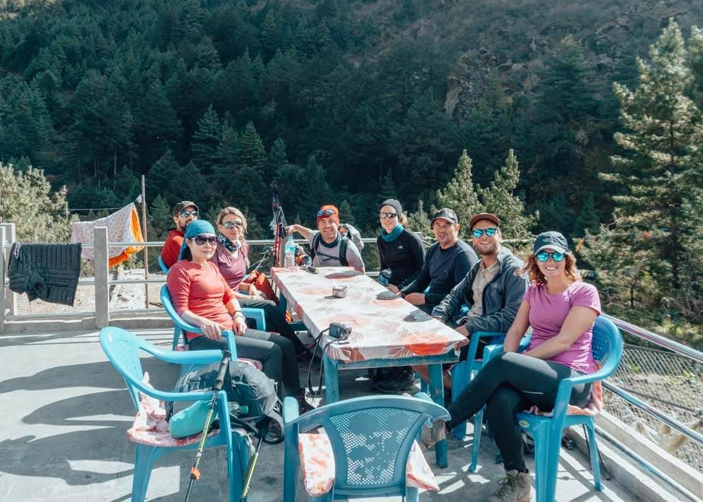 Everest Base Camp and Island Peak Lunch Stop