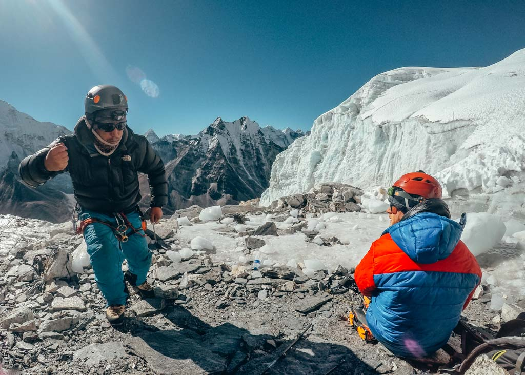 Guides and Island Peak in Nepal
