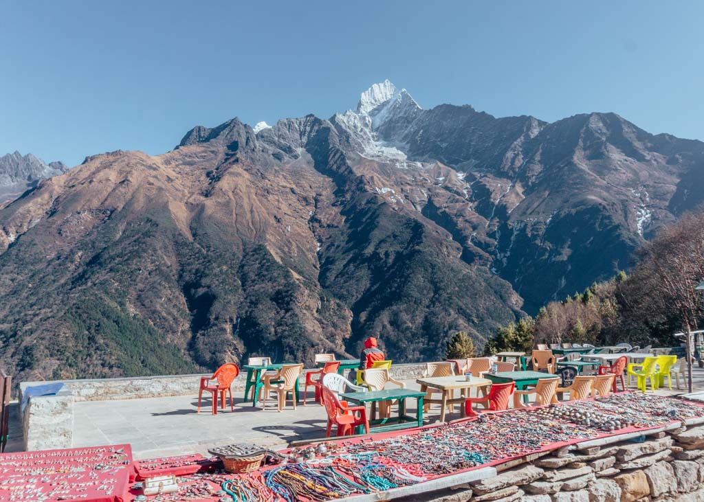Lunch spot in the Everest Base Camp trek and Island Peak climb