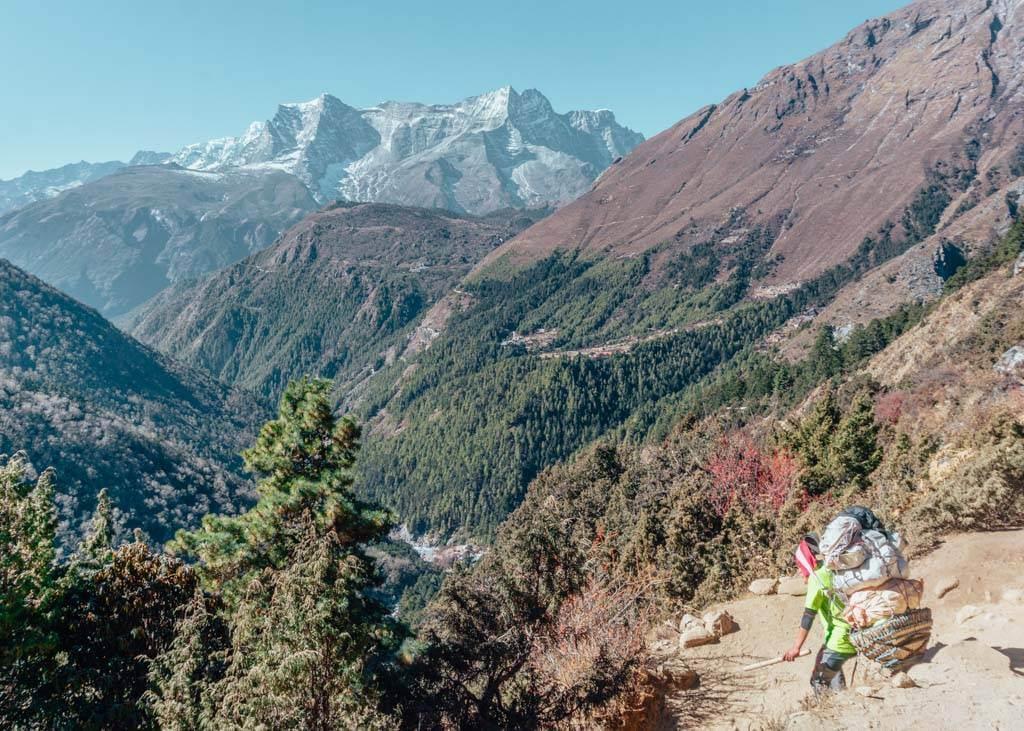 Porters-on-the-Everest-Base-Camp-trek-with-Island-Peak-climbing