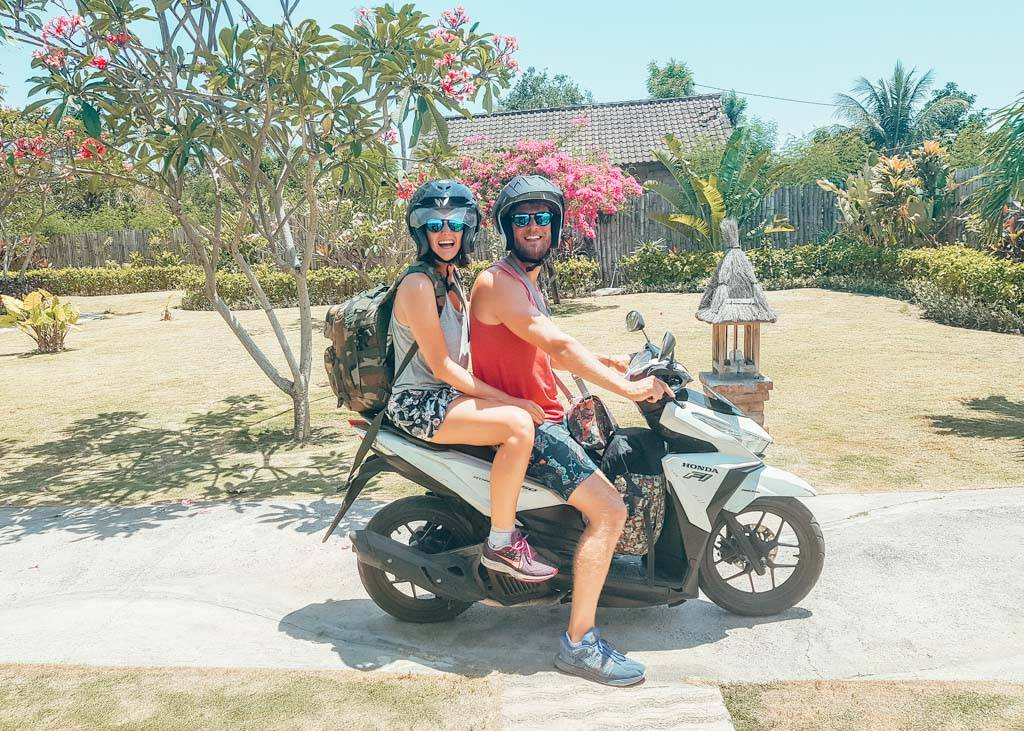 Renting a scooter in Bali, Indonesia