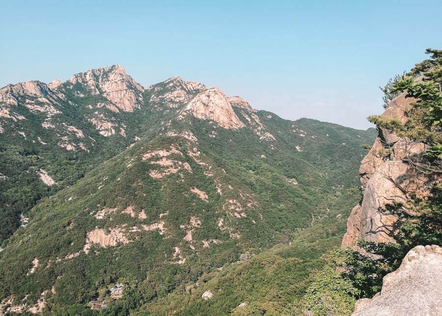 Views from Bukhansan National Park in South Korea