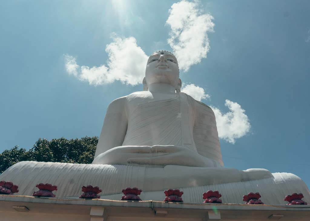Buddha on the hill in Kandy