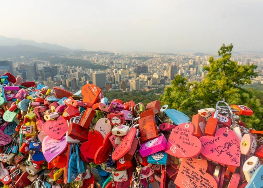 N Seoul Tower is one of the best Seoul Attractions to add to your Seoul itinerary