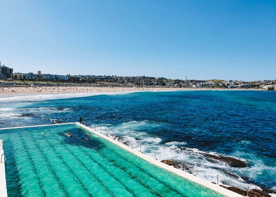 Bondi Pools at the end of the Bondi Coastal Walk in Sydney