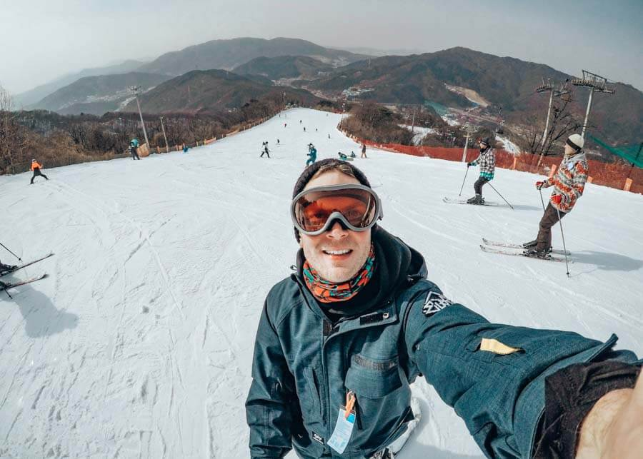 Skiing in Korea itinerary