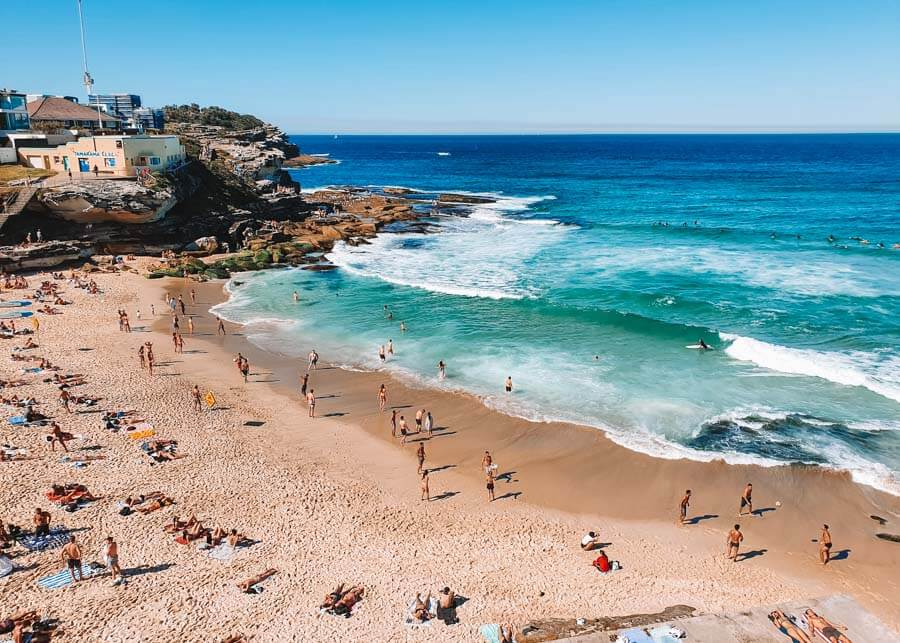 Tamarama Beach between Bronte and Bondi Beach