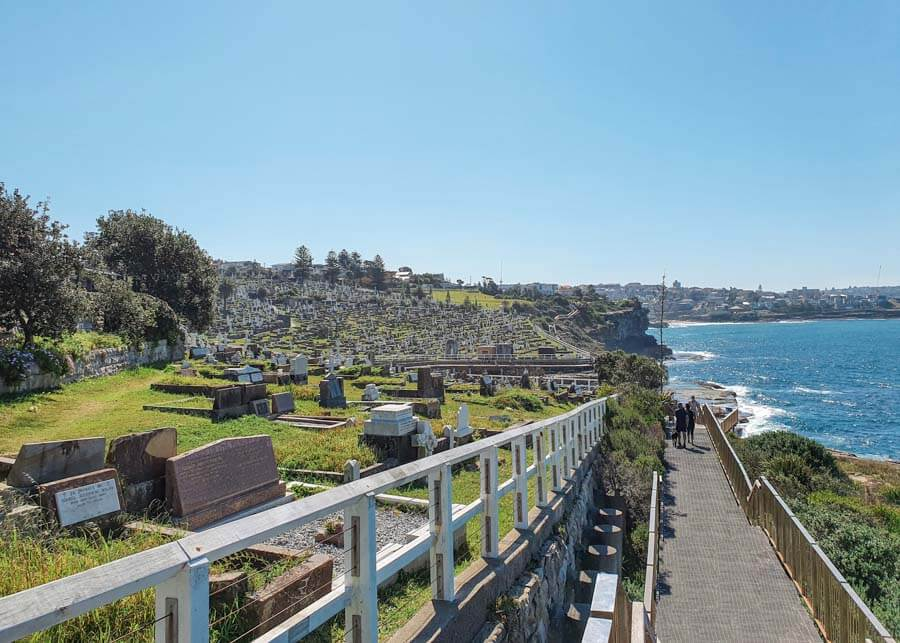 Waverley Cemetery along the Bondi Coastal Walk in Sydney