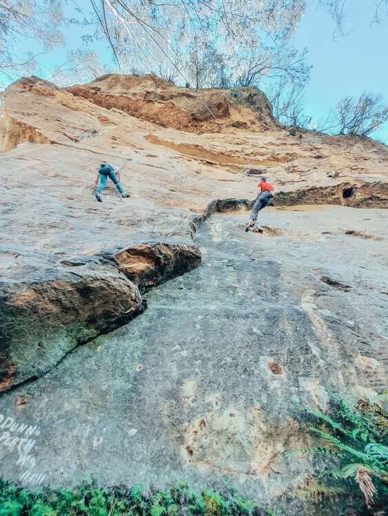Rock climbing Porters Pass