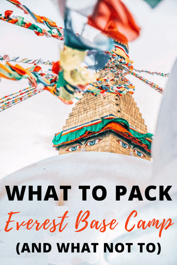 Everest Base Camp Packing List - Torn Tackies Travel Blog