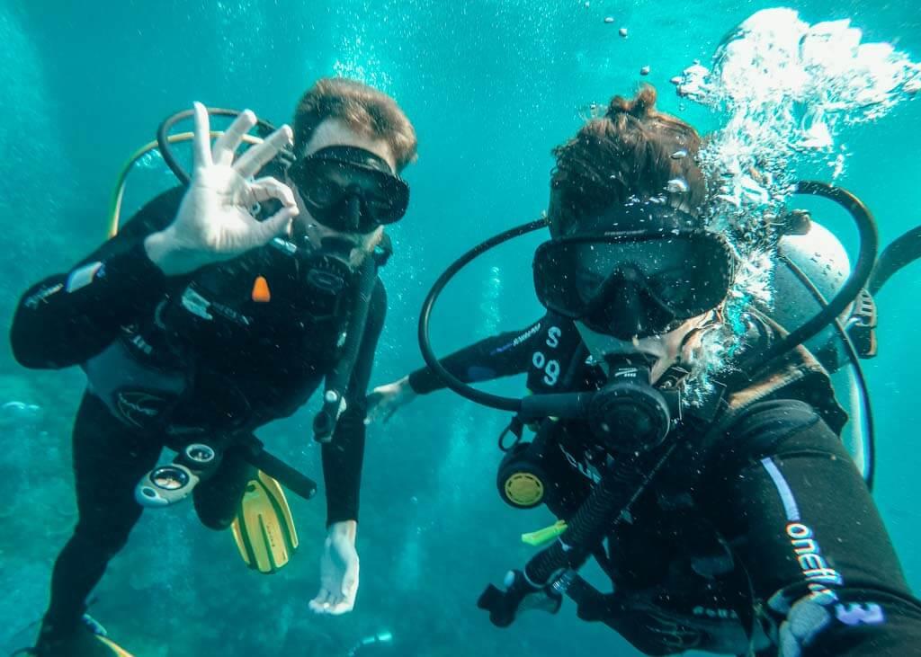 Diving in Nusa Lembongang Bali Indonesia