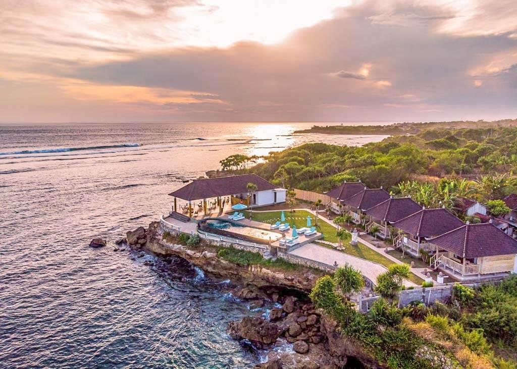Ombak Bay in Nusa Islands, Bali
